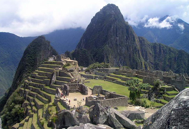 Trekking view of Machu Picchu