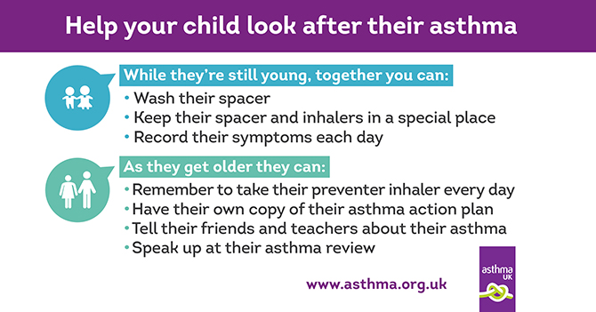 Help your child manage their own asthma | Asthma UK