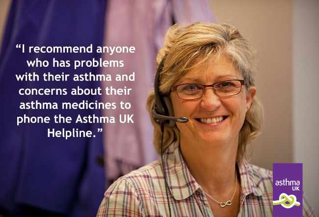 Helpline quote on asthma medicines