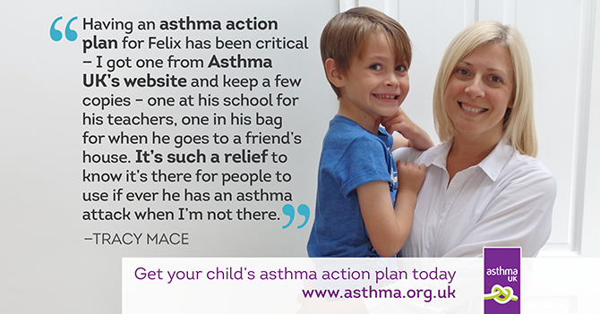 ChildrenS Asthma Action Plan  Asthma Uk