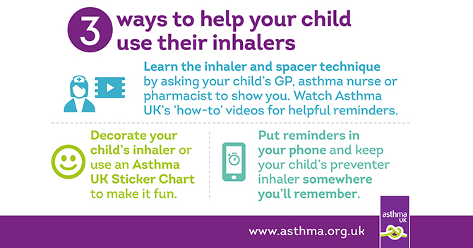Help Your Child Use Their Inhaler Asthma Uk