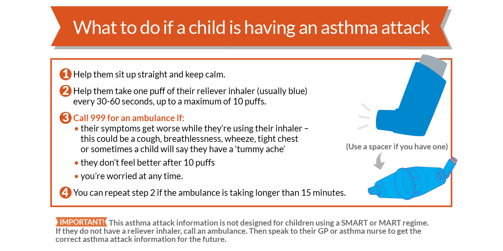 What to do if your child has an asthma attack