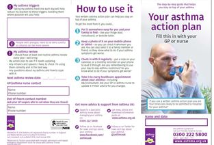 Travel asthma uk for Asthma brochure template